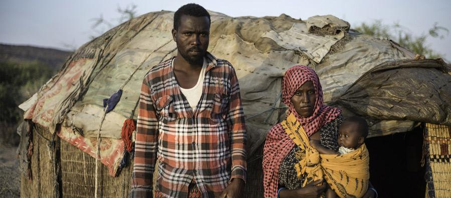 Mako and her husband Mahamud are pastoralist farmers living in the Somali region of Ethiopia. Photo: Kieran Doherty/Oxfam