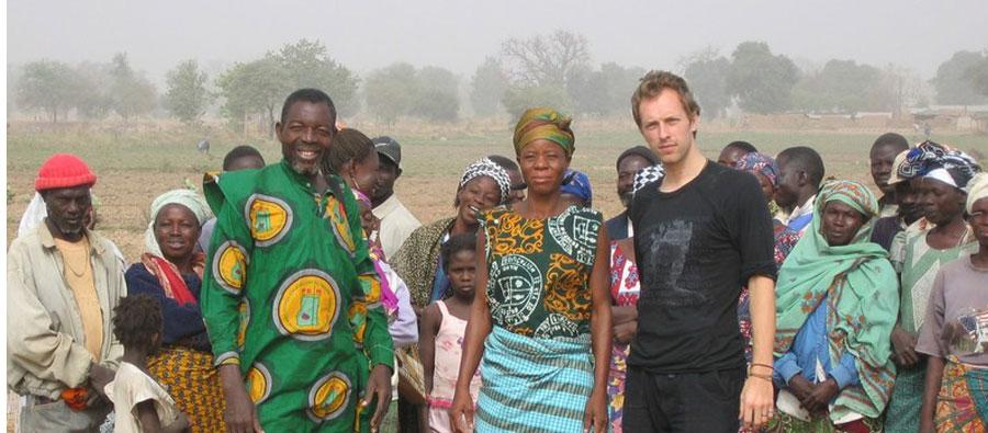 Chris Martin, lead singer from Coldplay and Make Trade Fair activist in Ghana