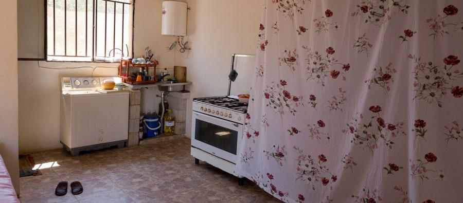 One of the rooms where the refugees are living in Lebanon.