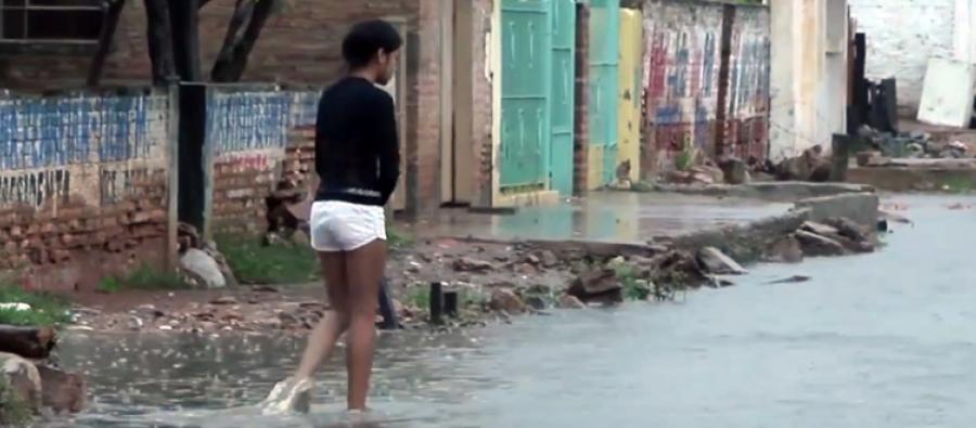 Inundaciones en el el Bañado Sur de Asuncion, Paraguay