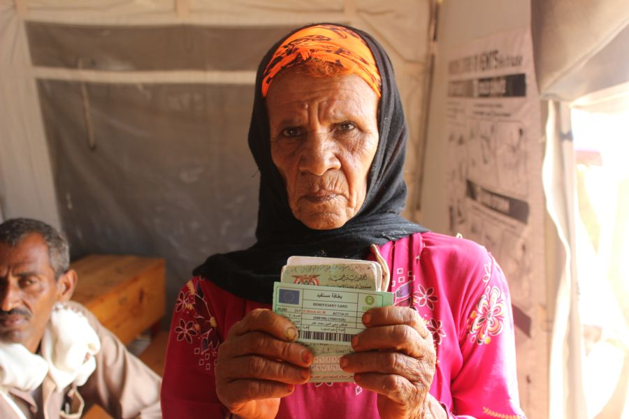 Kadafish is one of 45,000 people in Abs who received 24,500 Yemeni riyals in cash (around $100) from Oxfam to be able to buy food.